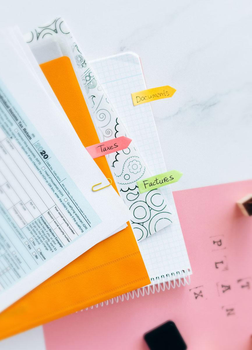 administratif entreprise factures taxes devis